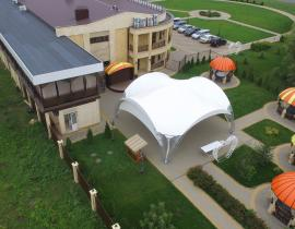 Арочные шатры для кафе img6437