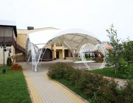 Арочные шатры для кафе img6436